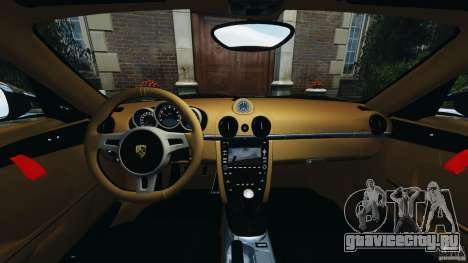 Porsche Cayman R 2012 [RIV] для GTA 4 вид сзади