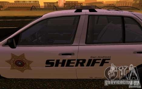 Ford Crown Victoria Police для GTA San Andreas вид изнутри