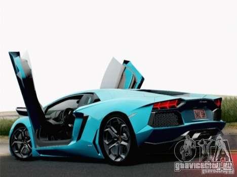Lamborghini Aventador LP700-4 2012 для GTA San Andreas вид слева