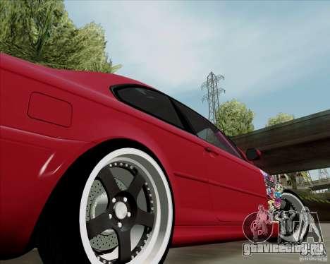 BMW E46 для GTA San Andreas вид сзади