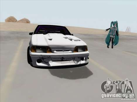 Ford Mustang Drift для GTA San Andreas вид сзади