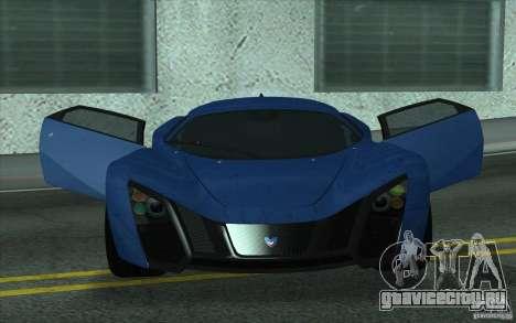 Marussia B2 2010 для GTA San Andreas вид изнутри