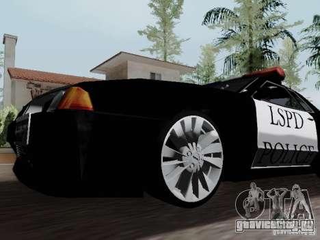 Elegy Police LS для GTA San Andreas вид сзади