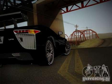 Lexus LFA Nürburgring Edition для GTA San Andreas вид сзади