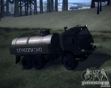 КамАЗ-4310 Топливозаправщик для GTA San Andreas вид сзади слева