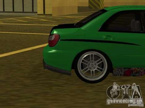 Subaru Impreza WRX для GTA San Andreas вид сбоку