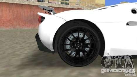 Hennessey Venom GT Spyder для GTA Vice City вид справа