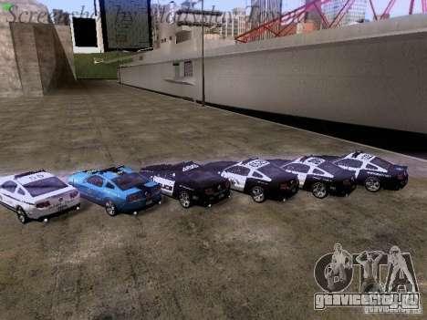 Ford Mustang GT 2011 Police Enforcement для GTA San Andreas салон