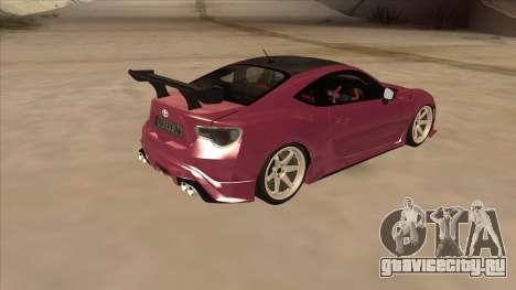 Toyota GT86 Drift 2013 для GTA San Andreas вид справа