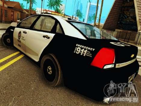 Chevrolet Caprice 2011 Police для GTA San Andreas вид сзади слева