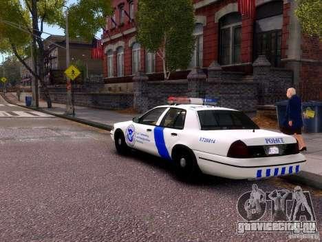 Ford Crown Victoria Homeland Security для GTA 4 вид справа