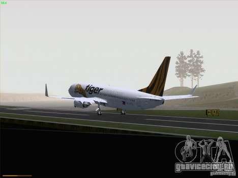 Boeing 737-800 Tiger Airways для GTA San Andreas вид изнутри