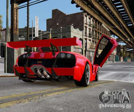 Lamborghini Murcielago RSV FIA GT1 для GTA 4 вид слева