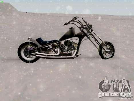 Harley для GTA San Andreas вид изнутри