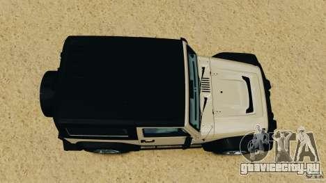 Jeep Wrangler Rubicon 2012 для GTA 4 вид справа