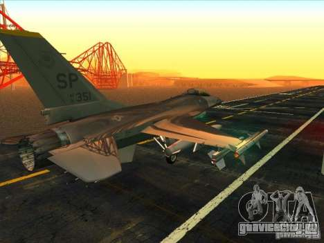 F-16C Fighting Falcon для GTA San Andreas вид справа