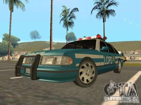 HD Police from GTA 3 для GTA San Andreas вид слева
