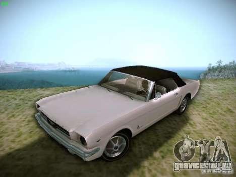 Ford Mustang Convertible 1964 для GTA San Andreas вид сзади