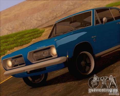 Plymouth Barracuda 1968 для GTA San Andreas вид изнутри