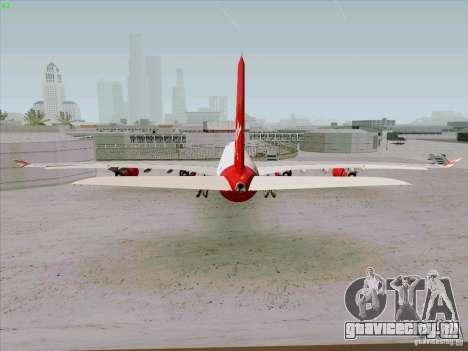 Airbus A-340-600 Virgin для GTA San Andreas вид сзади слева