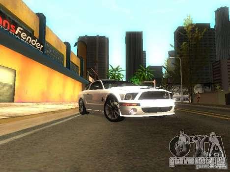 Ford Shelby GT 2008 для GTA San Andreas вид сзади