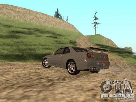 Nissan Skyline GTR R34 для GTA San Andreas вид слева