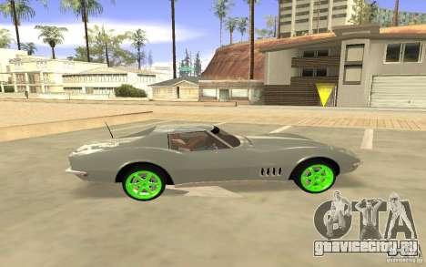 Chevrolet Corvette Stingray Monster Energy для GTA San Andreas вид справа