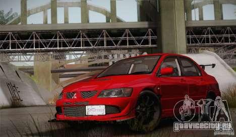 Mitsubishi Lancer Evolution VIII MR Edition для GTA San Andreas вид сбоку