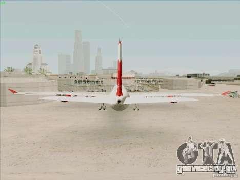 Airbus A-340-600 Plummet для GTA San Andreas вид сзади слева