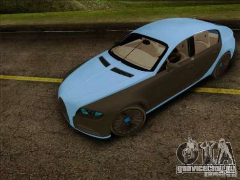 Bugatti Galibier 16c для GTA San Andreas вид сзади слева
