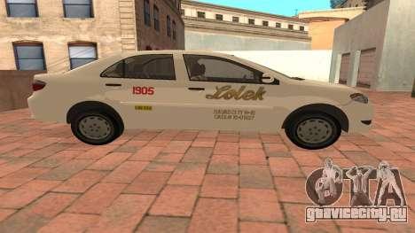 Toyota Corolla - LOLEK TAXI для GTA San Andreas вид слева
