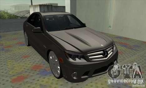 Mercedes-Benz C63 Dub для GTA San Andreas вид слева