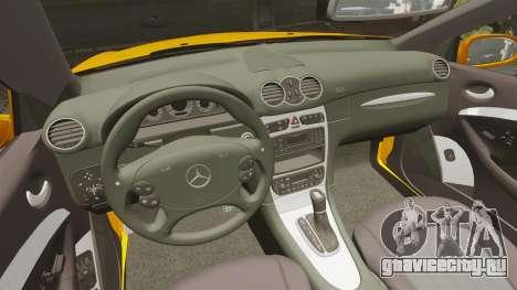 Mercedes-Benz CLK 55 AMG для GTA 4 вид сзади