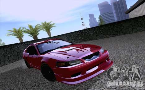 Ford Mustang SVT Cobra 2003 Black wheels для GTA San Andreas вид слева