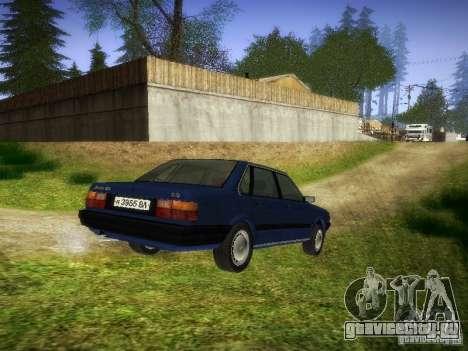 Audi 80 1987 V1.0 для GTA San Andreas вид сзади слева