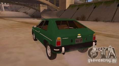 Chevrolet Chevette 1976 для GTA San Andreas вид сзади слева