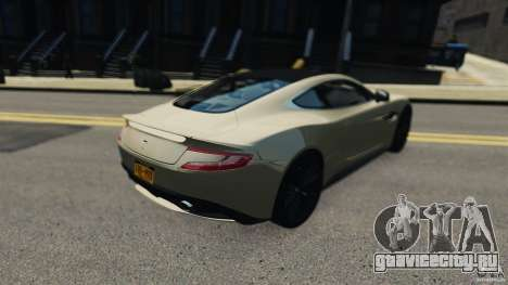 Aston Martin Vanquish 2013 для GTA 4 вид сзади слева