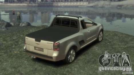 Chevrolet Montana Sport 2011 для GTA 4 вид сзади слева
