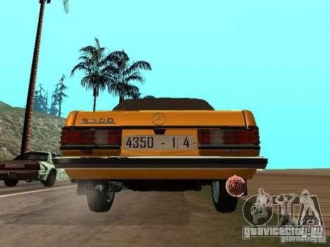 Mercedes-Benz 240D Taxi для GTA San Andreas вид справа
