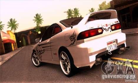 Honda Integra Tunable для GTA San Andreas вид изнутри