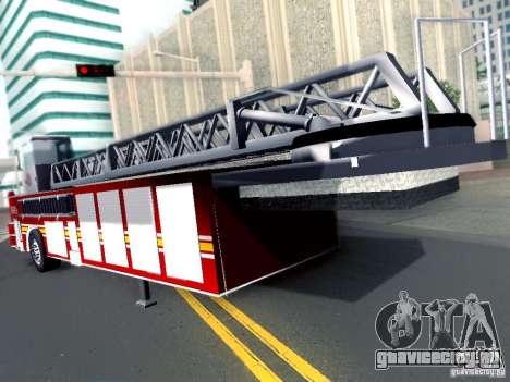 Прицеп для Seagrave Tiller Truck для GTA San Andreas вид сзади слева