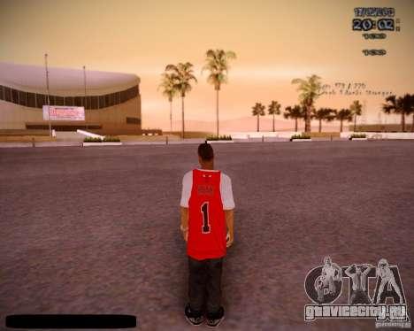 Skin Чикаго Буллс для GTA San Andreas третий скриншот