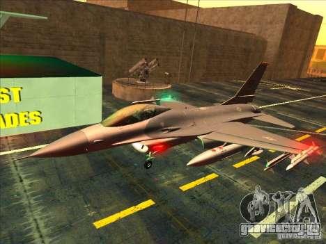 F-16C Fighting Falcon для GTA San Andreas вид слева