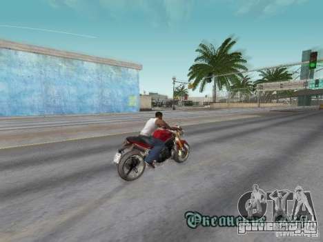 Bike Triumph для GTA San Andreas вид сбоку