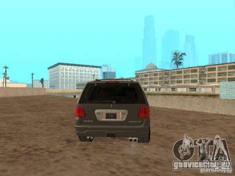 Lincoln Navigator 2004 для GTA San Andreas вид сзади слева