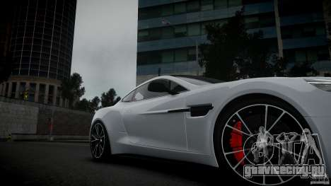 Aston Martin Vanquish 2013 для GTA 4 вид справа