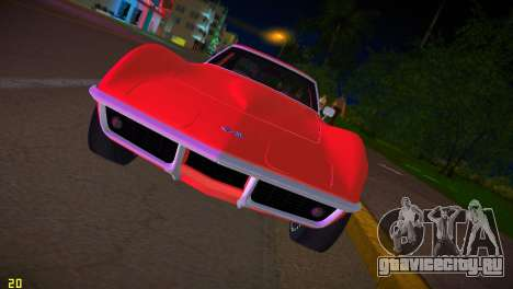 Chevrolet Corvette (C3) Stingray T-Top 1969 для GTA Vice City вид изнутри