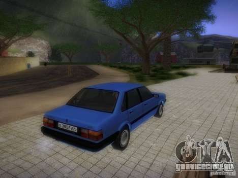 Audi 80 1987 V1.0 для GTA San Andreas вид изнутри