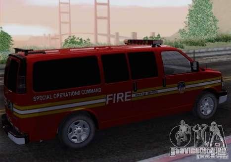 Chevrolet Express Special Operations Command для GTA San Andreas вид слева