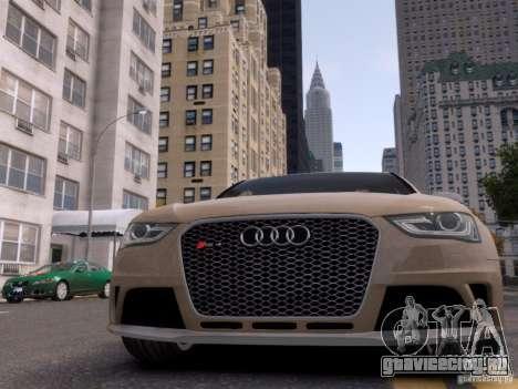 Audi RS4 Avant 2013 для GTA 4 вид сверху